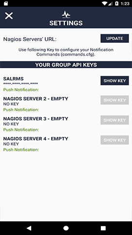 Server Alarms - Nagios Client for Android and IOS Devices